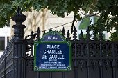 stock photo of charles de gaulle  - Place Charles De Gaulle in Paris France - JPG