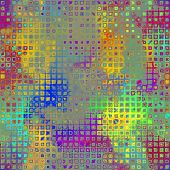 art abstract pixel geometric pattern background in lilac, grey, green and gold colors