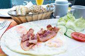 bacon and Prepared Egg - prepared egg under the sun