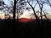 High view sunset
