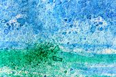 Blue and Green Watercoloir Abstract 3