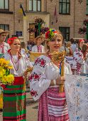 Kontraktova Area In Podil Delegation From The Poltava Region In National Traditional Costume  Region