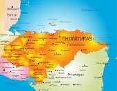 Honduras country vector color map
