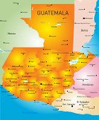Guatemala country vector color map