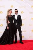 LOS ANGELES - AUG 25:  Behati Prinsloo, Adam Levine at the 2014 Primetime Emmy Awards - Arrivals at Nokia Theater at LA Live on August 25, 2014 in Los Angeles, CA