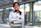 Young black businesswoman portrait