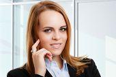 Portrait of a smiling confident business woman