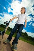 picture of skateboarding  - Active childhood - JPG
