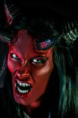 pic of hade  - Portrait of a devil with horns - JPG