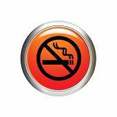 No Smoking Icon. Internet Button. Vector Illustration