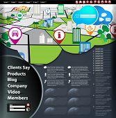 Website city map background, vector