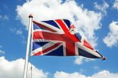 British Union Jack flag.