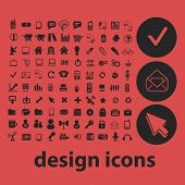 web design isolated icons, signs, symbols, illustrations, silhouettes, vectors set