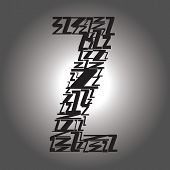 Letter Z . Vector Illustration