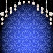 Background With Pendants Of Pearls And Ornaments