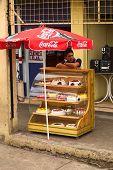 Selling Cakes in Ambato, Ecuador