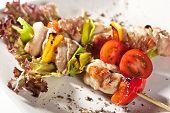 Japanese Skewered Chicken with Vegetables