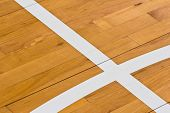 Line On Wooden Floor