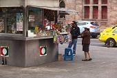 Snack Stand in Ambato, Ecuador