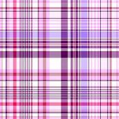 Naadloze wit en geruit patroon violet-roze