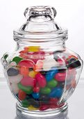 Glass Jar filled with Jelly Beans