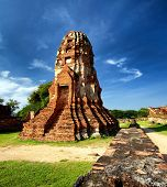 Ancient ruins of Ayutthaya historical park, Thailand