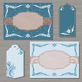 Decorative cards vector template