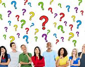 Group of People Asking Questions Information Concept