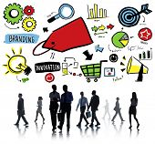 Business People Branding Marketing Partnership Discussion Concept