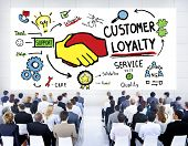 pic of loyalty  - Customer Loyalty Service Support Care Trust Business Concept - JPG