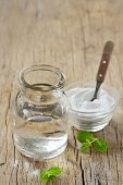 Homemade All Natural Peppermint and  Bicarboante Mouthwash