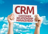 CRM card with sky background