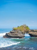 the Tanah Lot temple, in Bali island, indonesia