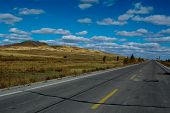 highland highway with open view