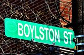 Boylston Street Sign site of 2013 Boston Bombings