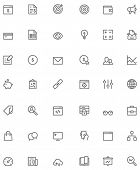 Set of the SEO related glyphs