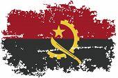 Angola grunge flag. Vector illustration.