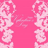 Valentine's day illustration with heart.Calligraphic design element. Vector