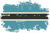 Botswana grunge flag. Vector illustration.