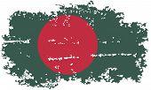 Bangladesh grunge flag. Vector illustration.