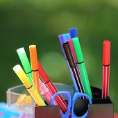 Colored marker pens