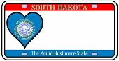 South Dakota License Plate