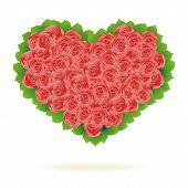 Floral Heart. Beautiful vector illustration