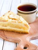 Slice Of Apple Cheesecake