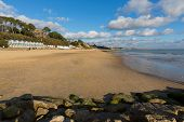 Branksome beach Poole Dorset England UK near to Bournemouth known for beautiful sandy beaches