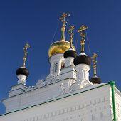 picture of romanov  - Russian ortodox church Iverskaya in Orel witj onion domes - JPG