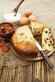 Mannik, Semolina Cake With Dried Fruits