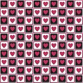 seamless pattern with contrasting hearts