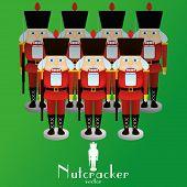 a set of nutcracker soldiers