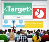 Target Market Business Meeting Seminar Conference Learning Concept